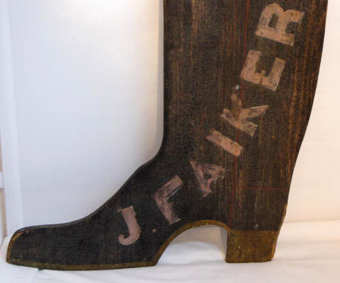Paint Decorated Two Sided Boot Trade Sign