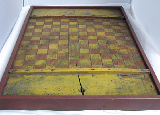 Red and Mustard Painted Game Board