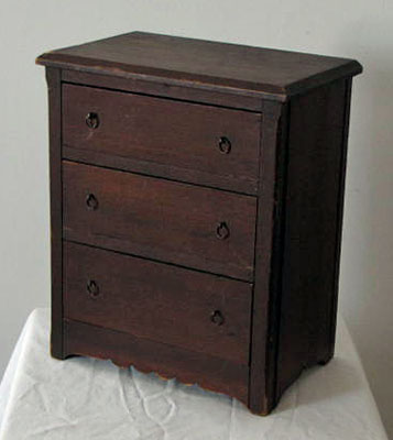 Miniature Three Drawer Chest