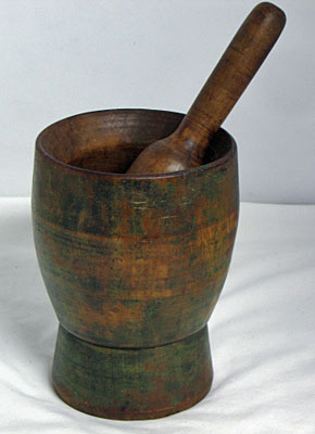 Painted Mortar and Pestle